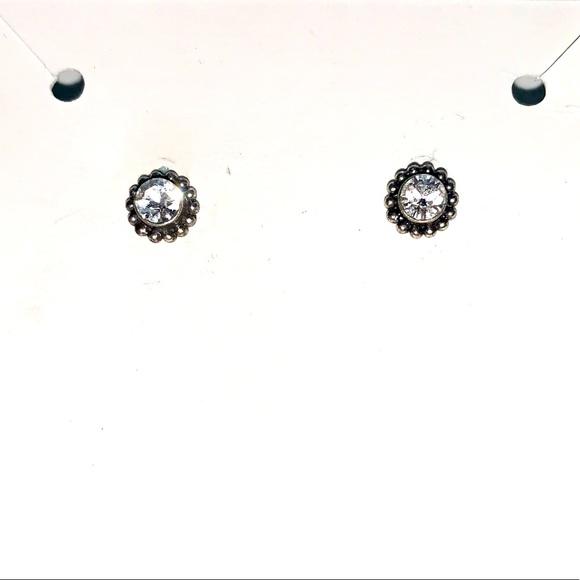 Small silver stud earrings